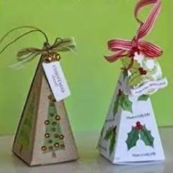 自制圣诞糖果包装盒 折纸圣诞糖果包装纸