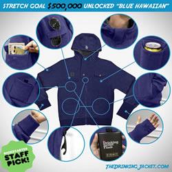 专门为嗜酒爱好者推出的多功能外套夹克设计