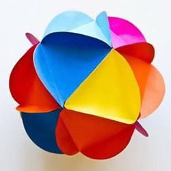 创意折纸彩球DIY 彩球折纸手工制作图解教