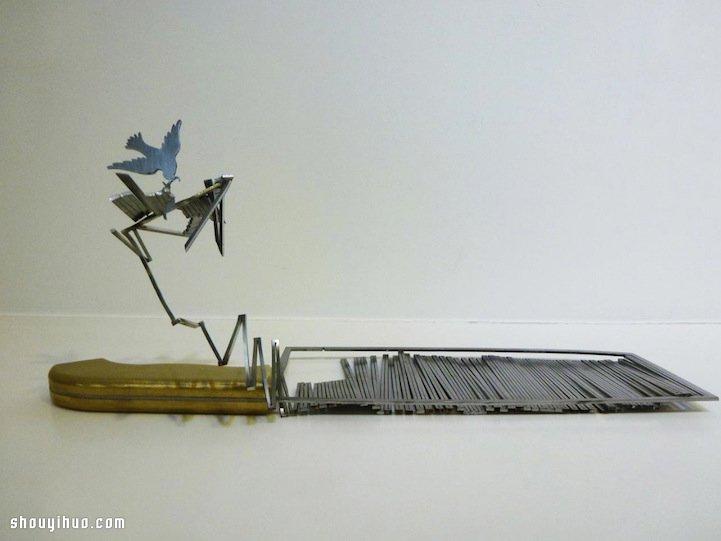 金属雕刻:菜刀上作雕刻出鬼斧神工的作品 -  www.shouyihuo.com