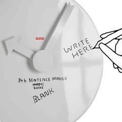 方便书写及擦拭的创意挂钟产品设计