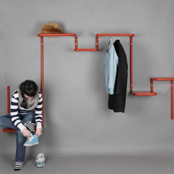 是椅子也是书架 超实用百变衣架产品设计