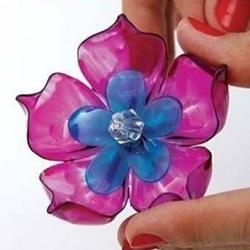 饮料瓶塑料瓶变废为宝DIY灯罩装饰塑料花