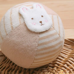 可爱兔脸布艺球玩具DIY 布艺球饰品手工制作