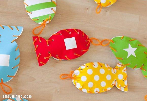 钓鱼方法_亲子手工游戏:卡纸手工制作儿童钓鱼玩具_手艺活网