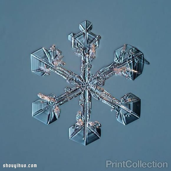 用自製微距相機 拍下超夢幻片片雪花雪晶