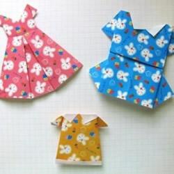 连衣裙的折法 可爱女生连衣裙折纸图解教程