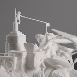 以Nike AF1为灵感打造尼龙材质3D概念雕塑