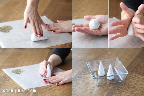 超簡單圓錐造型軟陶戒托DIY手工製作教程