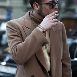 2015 米兰秋冬时装周 最时髦型男街拍追击