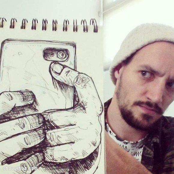 David Troquier 講述故事般的創意素描畫作