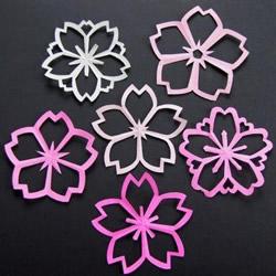 樱花的剪法 超美樱花剪纸手工制作图解教