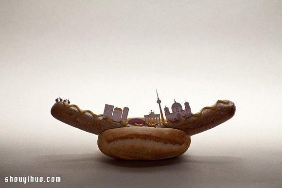 Brunch City 美食与插画结合的迷你城市