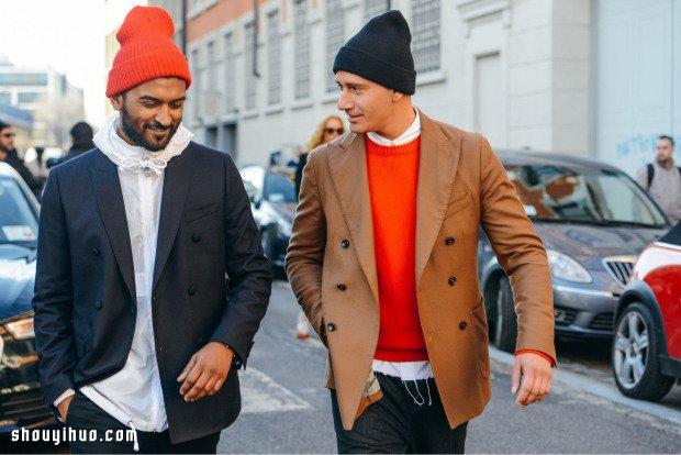注意!帅哥出没!伦敦、米兰男装周街拍