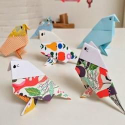 小鸟的折法图解 折纸麻雀鸟儿手工制作教