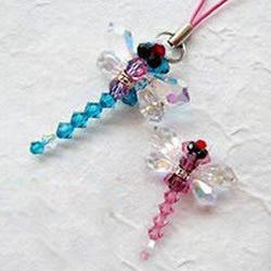 蜻蜓造型手机挂件挂饰DIY手工制作图解教