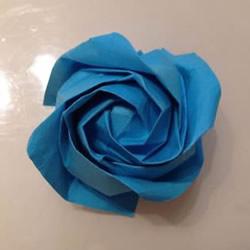 超详细芙荃玫瑰花的折法 折纸芙荃玫瑰图