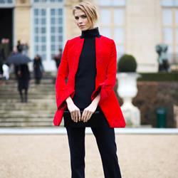 巴黎春夏高订时装周穿搭达人时尚街拍