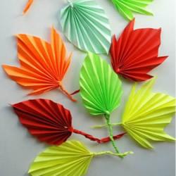 折纸树叶的方法步骤 叶片的折法图解教程