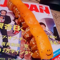 日本人恶搞的吃橘子创意 DIY橘子毛毛虫