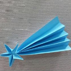 许愿流星折法图解 手工折纸流星的方法步骤