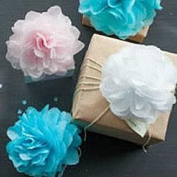 剪纸手工制作漂亮大花花球的方法图解教