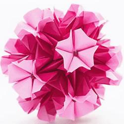 樱草花球的折法图解 手工折纸制作樱草花球