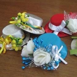 塑料瓶盖DIY手工制作漂亮女式帽子小饰品