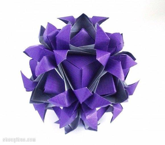 美轮美奂的手工折纸花球作品欣赏(二) -  www.shouyihuo.com