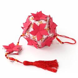 美轮美奂的手工折纸花球作品欣赏(三)