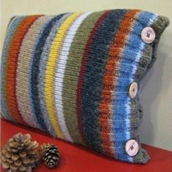 旧毛衣改造利用 DIY手工制作漂亮抱枕靠枕