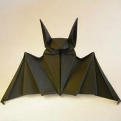 蝙蝠的折法图解 手工折纸蝙蝠步骤教程