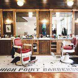 浓浓复古风的美式理发店装修设计布置