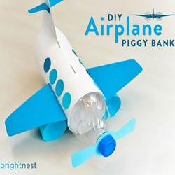 塑料瓶手工制作飞机模型玩具图解教程