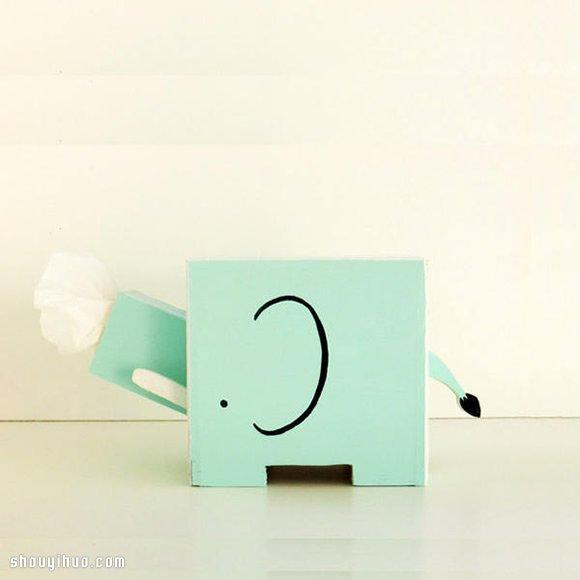 純手工打造的繽紛彩繪小動物紙巾盒