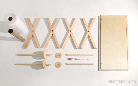 不用慌張找紙條 滾筒式超大便簽紙桌子設計