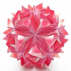 美轮美奂的手工折纸花球作品欣赏(五)