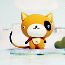 超轻粘土手工制作可爱卡通猫咪手办图解