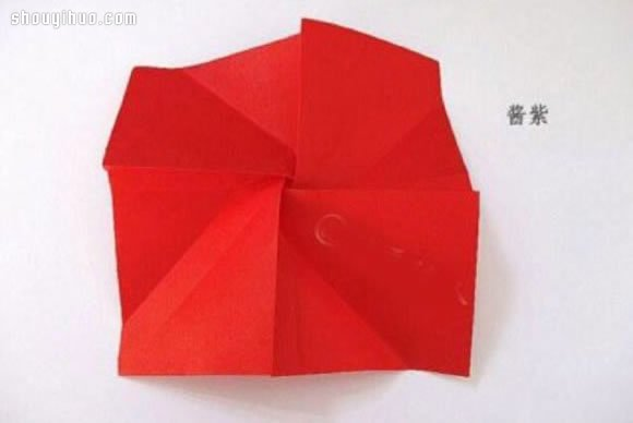 简单玫瑰花的折法 手工折纸玫瑰花折法图解 -  www.shouyihuo.com