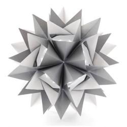 刺猬一样的折纸立体花球的折法图解教程