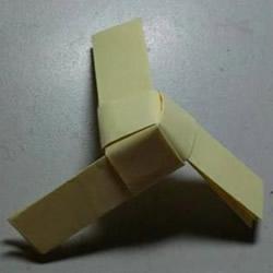 折纸竹蜻蜓的折法 手工折纸竹蜻蜓玩具图
