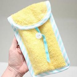 旧毛巾改造再利用 手工制作洗漱用品收纳