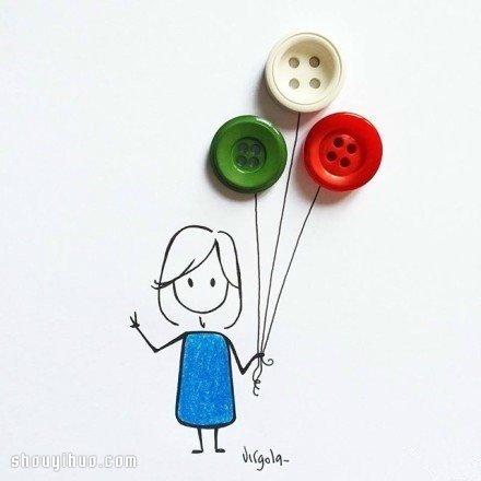 簡單手繪與生活小物結合 DIY女孩日常生活