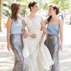 婚纱穿搭创意:不要一成不变的伴娘裙