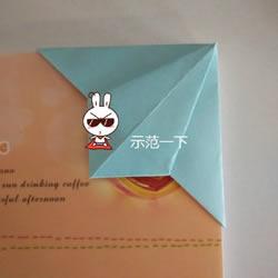 简单折纸书签的折法 书签制作方法图解教