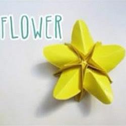 折纸星星的折法图解 手工折纸花朵方法步骤