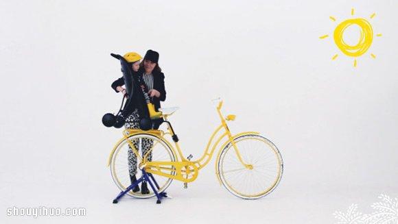 結合腳踏車後座與嬰兒推車的 Påhoj!
