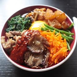 韩式拌饭的做法 重点在辣酱和荷包蛋!