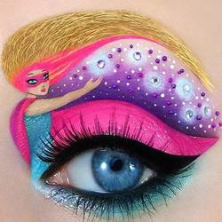 眼睛上的神奇艺术 如此夸张眼妆你敢试么?