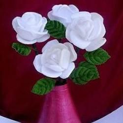 一次性塑料饭盒变废为宝DIY手工制作白玫瑰